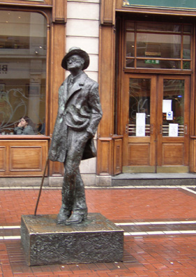 DUBLIN: This jaaunty portrait of Joyce by Marjorie Fitzgibbon is on North Earl Street, just off O'Connell Street.