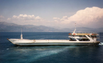GULF OF CORINTH: We continued by ferry across the Gulf of Corinth.