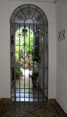 CORDOBA: We were lucky enough to arrive during the annual patio competition in which private courtyards are temporarily opened to public view. Traditional houses all over the Mediterranean are built whenever possible around such a courtyard, providing shelter, beauty, and privacy.