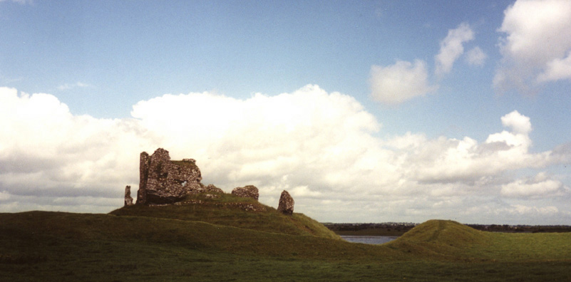CLONMACNOISE: The ruins of the nearby 13th-century Clonmacnoise Castle.