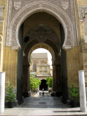 CORDOBA: Mudéjar gate in Córdoba.