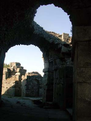 ASCLEPION: ...leading to the elaborate arched space of the temple at the other end.