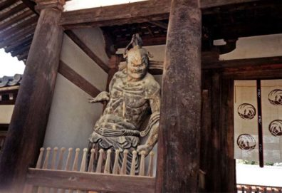 NARA: Fierce guardians like these flank the entrances to many Buddhist temples. They are not demons, but guardians against evil forces. May 21, 1998