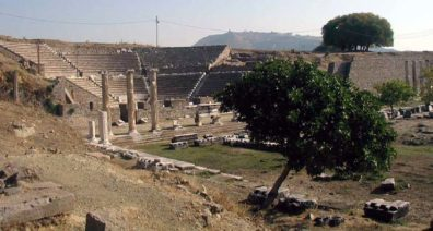 ASCLEPION: There is a nicely preserved theater next to the stoa.