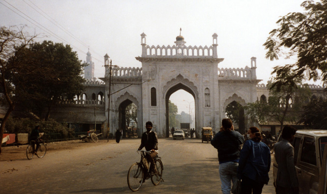 One of several old city gates of Lucknow.