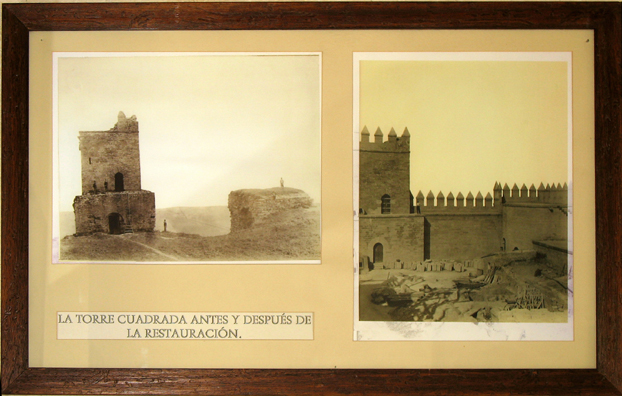 """ALMODOVAR DEL RIO: Indeed, we learned by looking at these before-and-after pictures in the castle museum, it is too good to be true; the castle has been """"restored"""" to such an extent that it is essentially a new structure—more theme park than historic monument."""