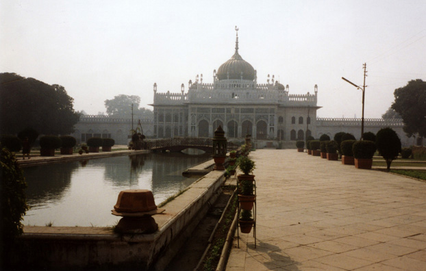 The Chota Imambara, smaller than the Bara Imambara, but in somewhat better repair, and still actively in use for religious purposes. Built by the third Nawab of Avadh, Muhammad Ali Shah, 1840. Also known as the Husainabad Imambada.
