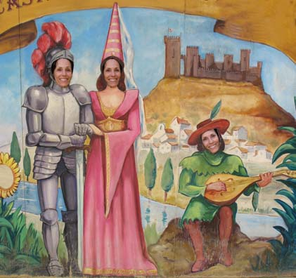 ALMODOVAR DEL RIO: However, as a theme park, it's a lot of fun. Paula posed as various medieval personages.