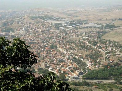 PERGAMUM ACEOPOLIS: From high on the hill of the Pergamum Acropolis you can look down on the modern town of Bergama.