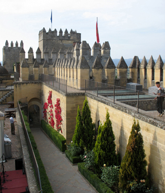 ALMODOVAR DEL RIO: The ramparts make clear that the principal function of a castle was defense.