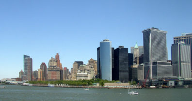 NEW YORK: One last view of the skyline. From the Staten Island Ferry