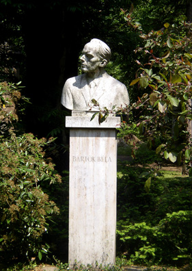 BUDAPEST: Sculpture of the famed Hungarian composer Bela Bartok in the park on Margaret island.