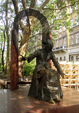 BUDAPEST: But the most striking sculpture of the great pianist and composer is on the street named after him: Liszt Ferenc tér. At night this pleasant street throbs with the sound of pop music as young people throng the cafes that line it.