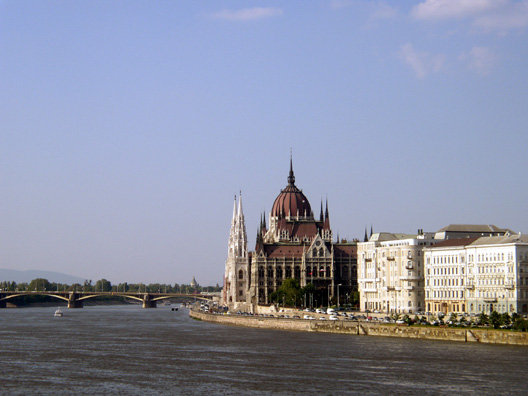 BUDAPEST: Another view of Parliament, from a boat on the river.