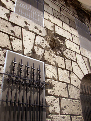 BUDAPEST: Hungary's violent history is reflected in the damage from guns visible in the wall of this building north of the the Royal Palace.