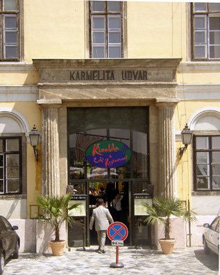 BUDAPEST: While visiting here we ran into a couple we had taken a Jewish Quarter tour with in Prague, and they recommended the nearby Rivalda Cafe, where we had an excellent lunch. It is located in a former Carmelite convent.