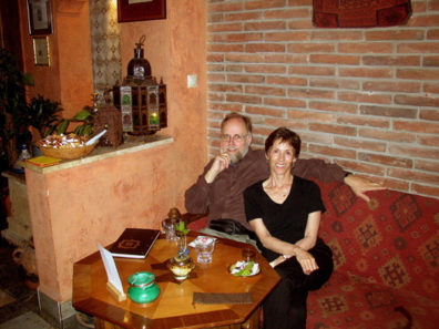 BUDAPEST: Our favorite restaurant in Budapest, J—kai tŽr 3. The entrance is modest, but worth seeking out. We liked it so much we dined there twice. The thick volume on the table is the menu.