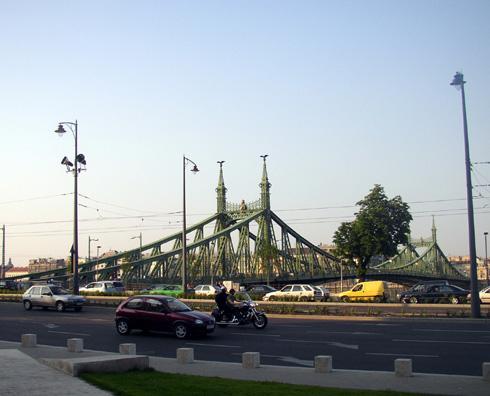 BUDAPEST: The Szabadsag (Independence) Bridge near the Gellert Baths.