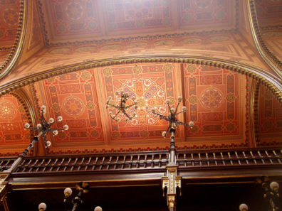 BUDAPEST: Detail of the ceiling ornamentation.