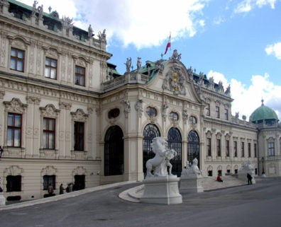 VIENNA: The carriage entrance on the south facade of the palace.