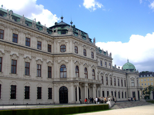 VIENNA: This side of the palace faces the long garden which slopes down to the Lower Belvedere.