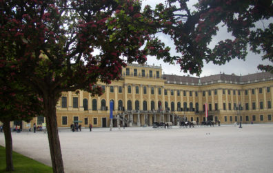 """VIENNA: Many museums were closed on Mondays, so we headed for one that wasn't: The Schönbrunn Palace on the edge of the city. This sprawling estate was the summer home of the Hapsburgs who ruled over the Austro-Hungarian Empire before World War I. It's a major tourist attraction, where you can watch strudel being made or--less authentic--buy a """"Hapsburger."""""""