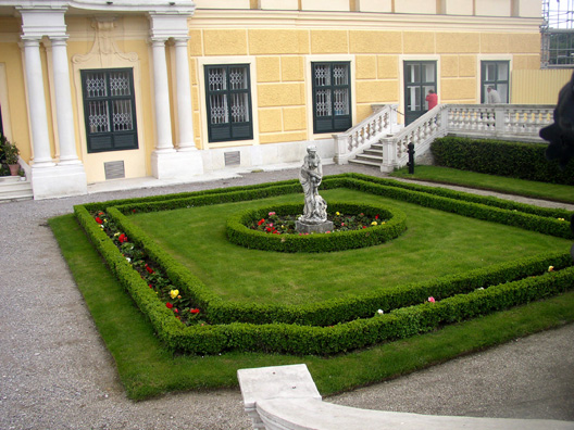 VIENNA: A small plot in front of the palace.