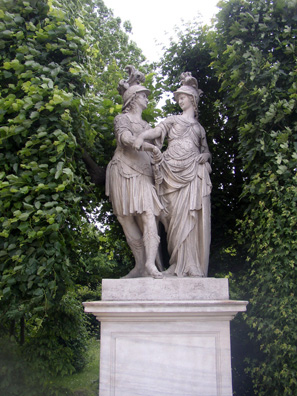 VIENNA: Concord disarms War. The Hapsburg's fancied themselves diplomatic keepers of the peace, whatever the rest of the world may have thought of them, as this statuary group testifies.