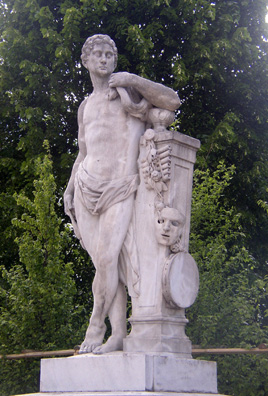 VIENNA: In the castle gardens this statue reflects the Hapsburgs' love for the arts. Apollo is accompanied by symbols of music, theater, and dance.
