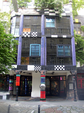 VIENNA: We proceeded by subway and tram to the KunstHausWien (Vienna Art House) at Untere Weissgerberstrasse 13, designed by Friedensreich Hundertwasser