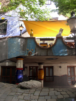 VIENNA: Nearby is an apartment block designed by the same artist: Hundertwasserhaus.