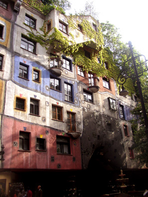 VIENNA: an apartment block designed by the same artist: Hundertwasserhaus.