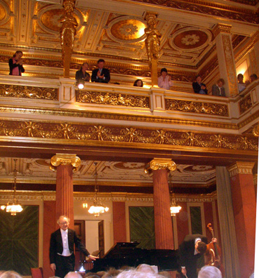 VIENNA: We concluded our tour of Vienna with the thrill of hearing pianist Alfred Brendel and his cellist son Adrian play an all-Beethoven concert the famed Musikverein concert hall as part of the annual Vienna Festival. We saw a lot of other splendid sights in Vienna, but the photographs fell victim to our broken memory card. One more good reason to go back.