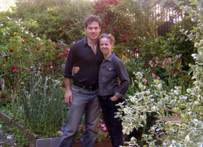 NEW YORK: They took us to a local Tribeca community garden.