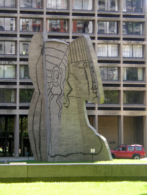 NEW YORK: On another walk we came across this Picasso sculpture on the grounds of New York University in Greenwich Village.