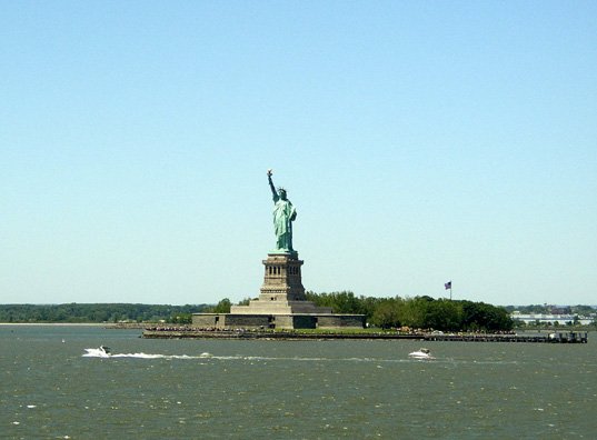 NEW YORK: From the deck of the Staten Island Ferry.