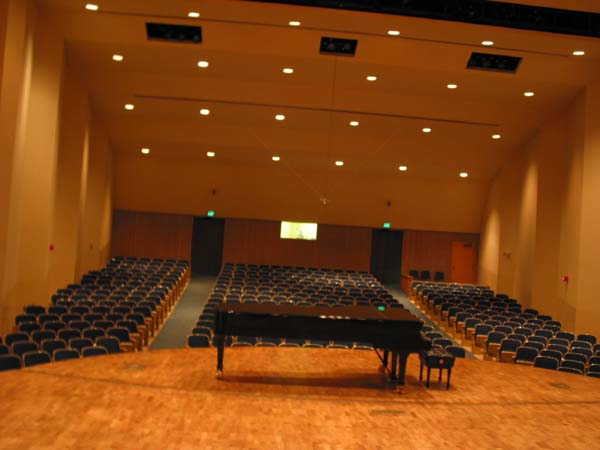 Seating for Kimbrough Concert Hall