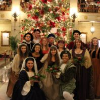 Madrigal Singers at Davenport Hotel Lobby