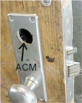 ACM inside a fire door (asbestos is not added to steel)