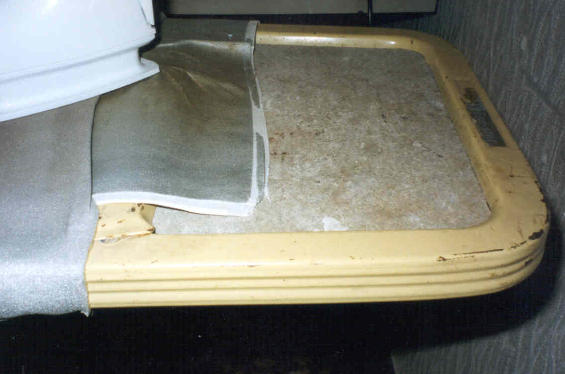 Asbestos ironing board surface