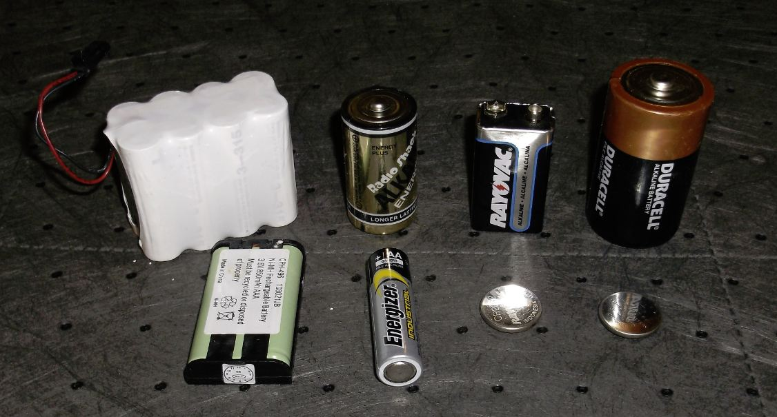 Batteries commonly collected for recycling