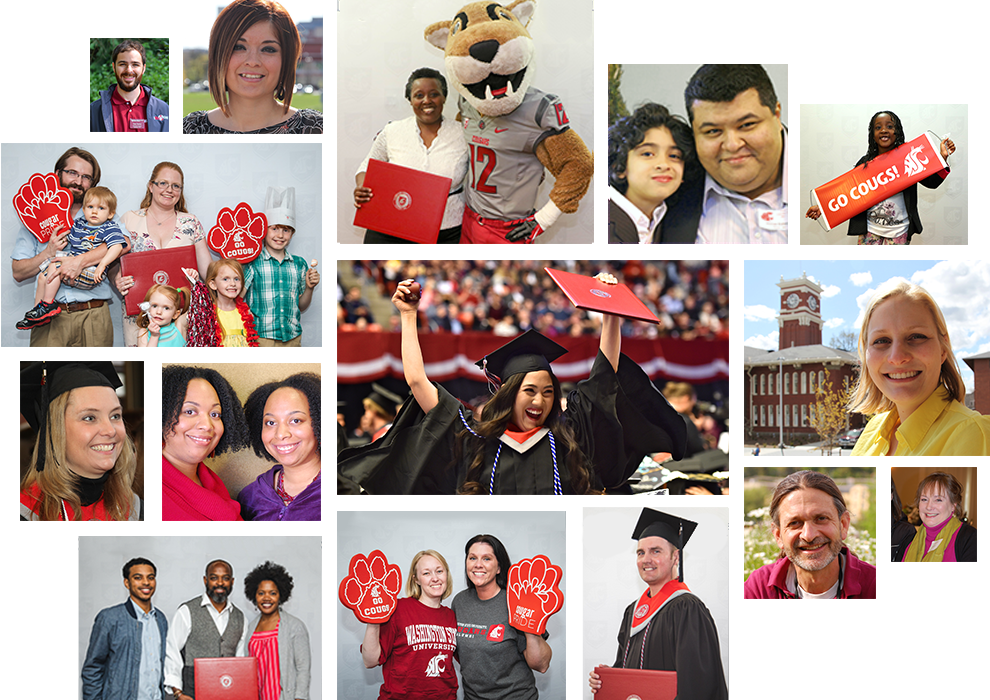 Photos: Collage of Global Campus community members.