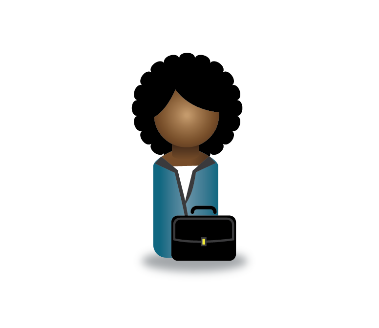Graphic: Peg person icon with briefcase.
