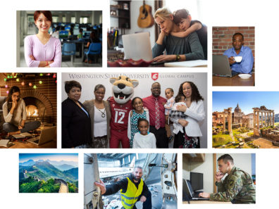 Photos: collage of Global Campus students.