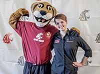 Photo: Virtual Mentor Anna Chesnokova with Butch the Cougar