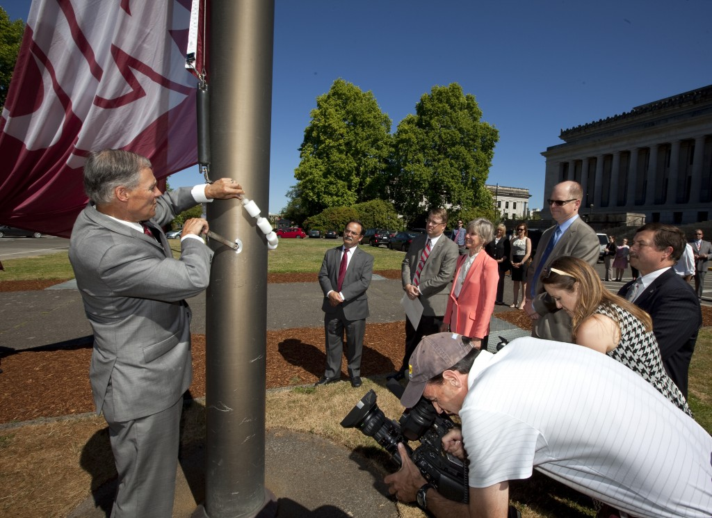 WSU Cougar Flag Raising at the Capitol