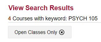 Screenshot: View Search Results.