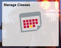 Screenshot: Manage classes.