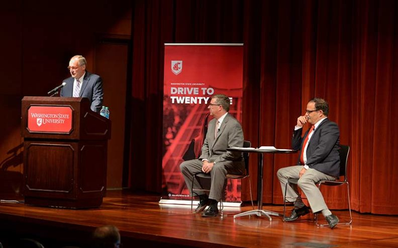 President and Provost on stage