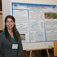 Grad Student Tara Burke Lewis presenting her research